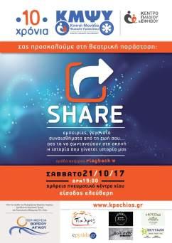 """Share"" 10 Χρόνια κινητής μονάδας ψυχικής υγείας Χίου (2017)"